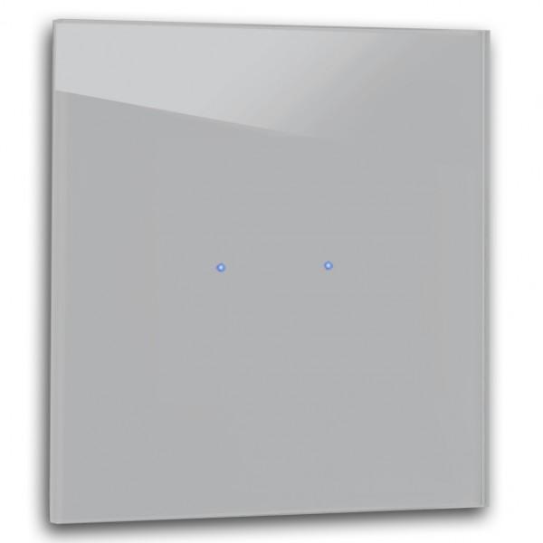 Beton farbener 2-fach Touch-Licht-Schalter 230V in der Farbe: WORSTED ® von Farrow & Ball Nr.: 284