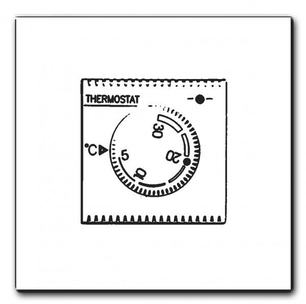 Drehknopf-THERMOSTAT, Eiche +Farbe