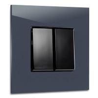 MAXIM Lichtschalter 281 PETROL >> TOP-Seller <<, Blau-Petrol, dunkel. Farrow & Ball 2 fach. Für 1 Wanddose Ohne Beleuchtung