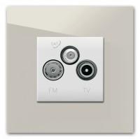 TV-FM/SAT Anschlussdose (3fach) als komplettes Set 229 BEIGE >> TOP-SELLER <<, neutral vergraut. Farrow & Ball