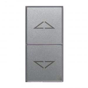Rollladen-TASTER, schmal, Silber, JALOUSIE-Steuerung
