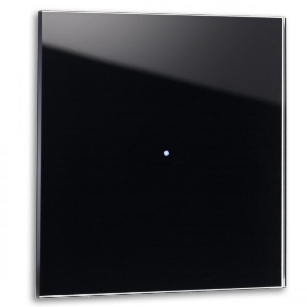 Schwarzer 1-fach Touch-Licht-Schalter 230V in der Farbe: PITCH BLACK ® von Farrow & Ball Nr.: 256.