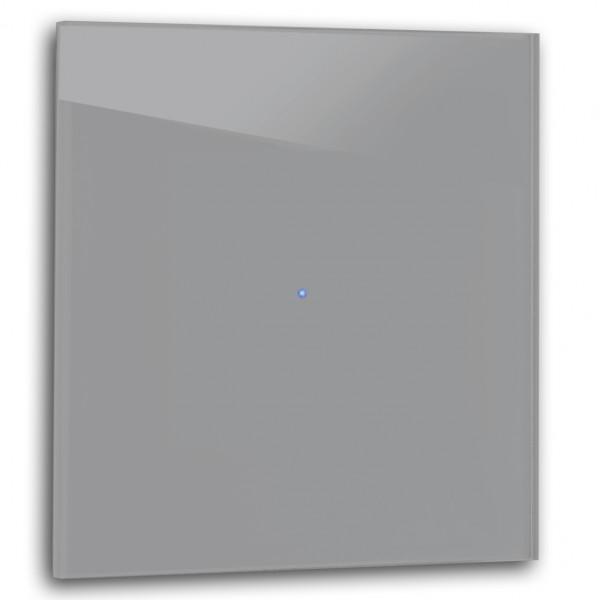 Dunkel-Grauer 1-fach Touch-Licht-Schalter 230V in der Farbe: MOLE`S BREATH ® von Farrow & Ball Nr.: 276