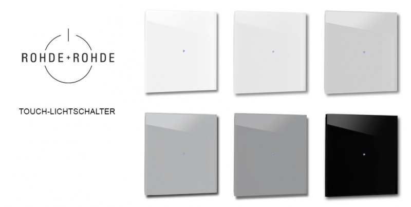 Farbige, graue Design-Lichtschalter in Farrow & Ball Farben von ROHDE+ROHDE