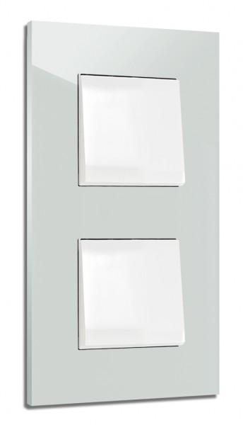 Himmel-Blauer, moderner 2-fach Lichtschalter von ROHDE+ROHDE in der Farbe: SKYLIGHT ® von Farrow & Ball Nr.: 205