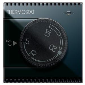 Drehknopf-Thermostat. Schwarz.