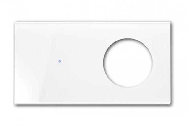 Touch-Frontblende - Glas-Optik - In Farrow & Ball Farbe (Für Schalter-Kombi, waagerecht). R