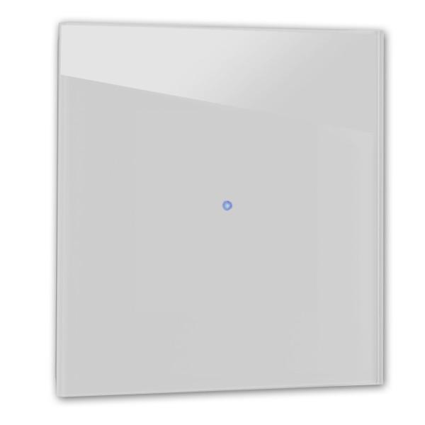 Mittel-Grauer 1-fach Touch-Lichtschalter in der Farbe: PAVILION GRAY ® von Farrow & Ball Nr.: 242