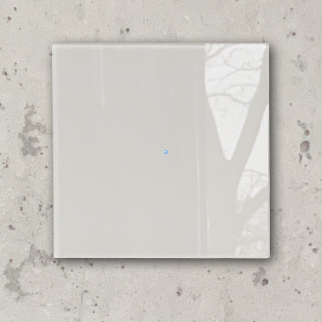 Moderner Lichtschalter Beige Touch