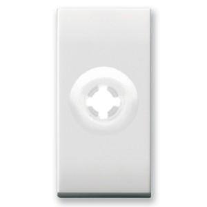 Kabelauslass, Schmal. Weiß glänzend.