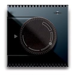 Hydrostat-Steuergerät. Schwarz glänzend.