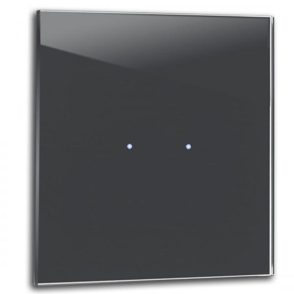 Dunkel Grauer 2-fach Touch-Licht-Schalter 230V in der Farbe: DOWN PIPE ® von Farrow & Ball Nr.: 26