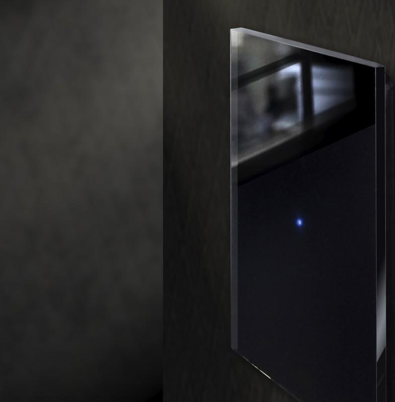 Design-Lichtschalter schwarz, farbig, LED beleuchtet in Farrow & Ball Farben von ROHDE+ROHDE