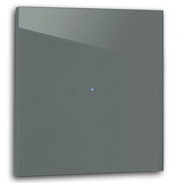 Dunkel Petrol farbener 1-fach Touch-Licht-Schalter 230V in der Farbe: INCHYRA BLUE ® von Farrow & Ball Nr.: 289
