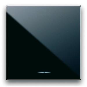 EIN/AUS/WECHSEL Schalter-Einsatz. Schwarz, breit