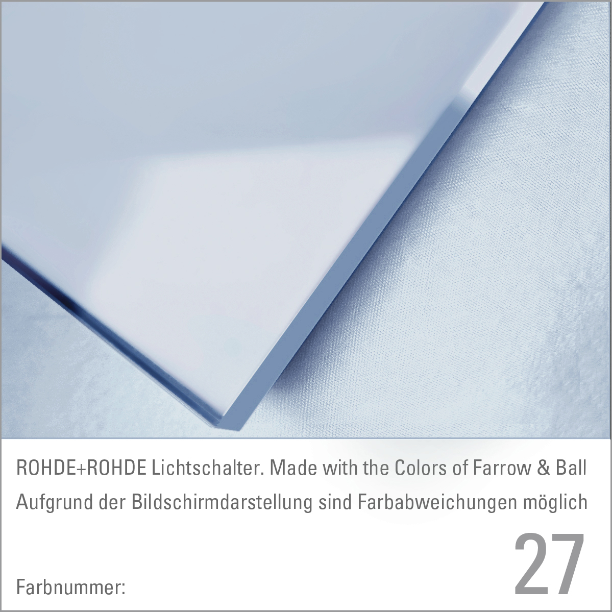 Farbkarte / Farbfächer, Farrow & Ball