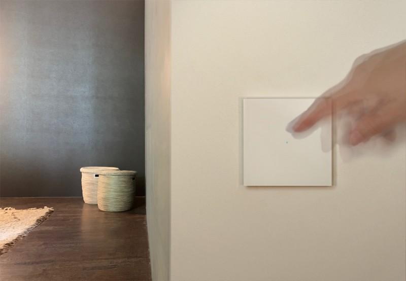 Touch-Lichtschalter Beige Berührungsschalter Sensorschalter Smart Home Farrow & Ball Farbe. ROHDE+ROHDE