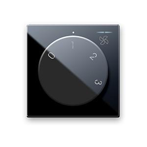 Drehregler für Ventilatoren. Schwarz glänzend.