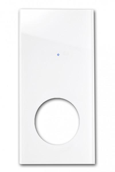 """FRONTBLENDE für Touch-Lichtschalter-Steckdosen-Kombination für runde Steckdose. """"NOVA Color""""-"""