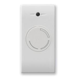 Drehdimmer für konventionelle Lampen/Geräte. Weiß glänzend.
