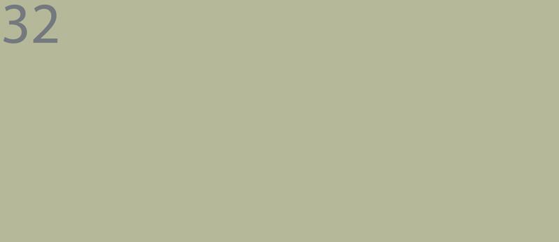 32 GRÜN, vergrautes Apfelgrün. Farrow & Ball