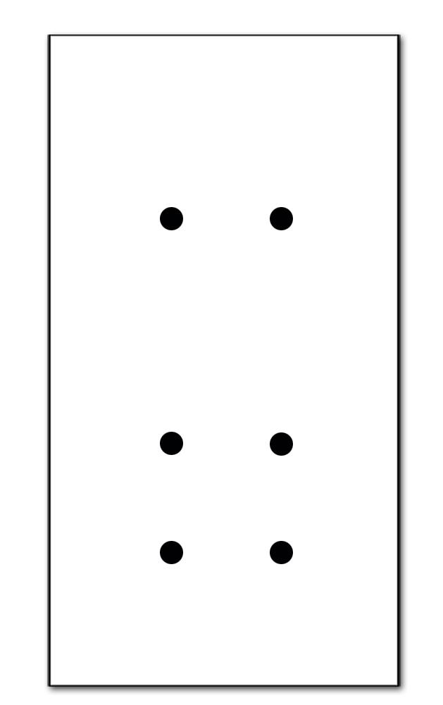 6-fach (für 2 Wanddosen)