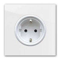 Zart-Graue 1-fach Steckdose in der Farbe: STRONG WHITE ® von Farrow & Ball Nr.: 2001