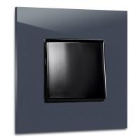 Dunkel-Blauer, moderner 1-fach Lichtschalter von ROHDE+ROHDE in der Farbe: STIFFKEY BLUE ® von Farrow & Ball Nr.: 281