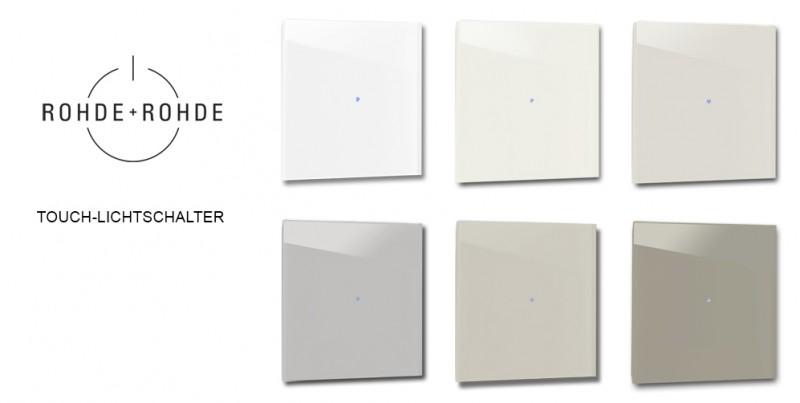 Farbige, beige Design-Lichtschalter in Farrow & Ball Farben von ROHDE+ROHDE