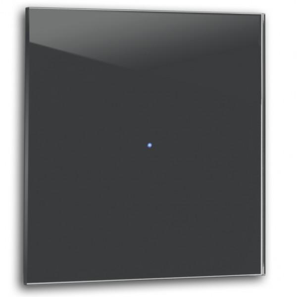 Anthrazit farbener 1-fach Touch-Licht-Schalter 230V in der Farbe: RAILINGS ® von Farrow & Ball Nr.: 31