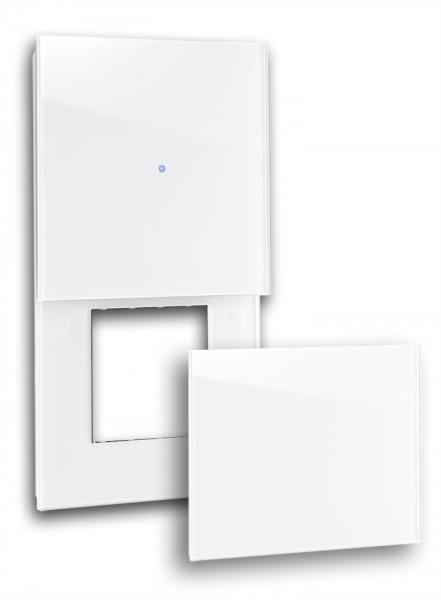 """Frontblende für Touch-Schalter-Steckdosen-Kombination mit Abdeckung. """"NOVA Color"""""""