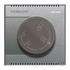 Drehknopf-THERMOSTAT. Silber.