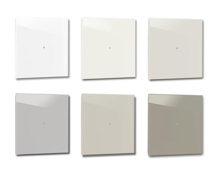 Design-Lichtschalter Beige. Viele Varianten