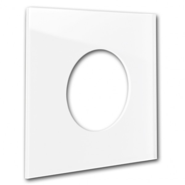 """Rahmen - Glas-Optik - in RALFarbe. Für runde Steckdosen-Einsätze. """"MAXIM"""""""