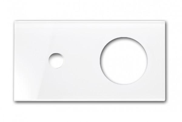 Retro-Frontblende - Glas-Optik - In Farrow & Ball Farbe (CAMBRIDGE, waagerecht).