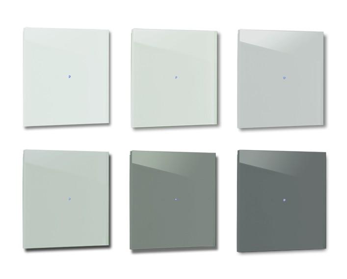 Design-Lichtschalter Blau Grün. Viele Varianten