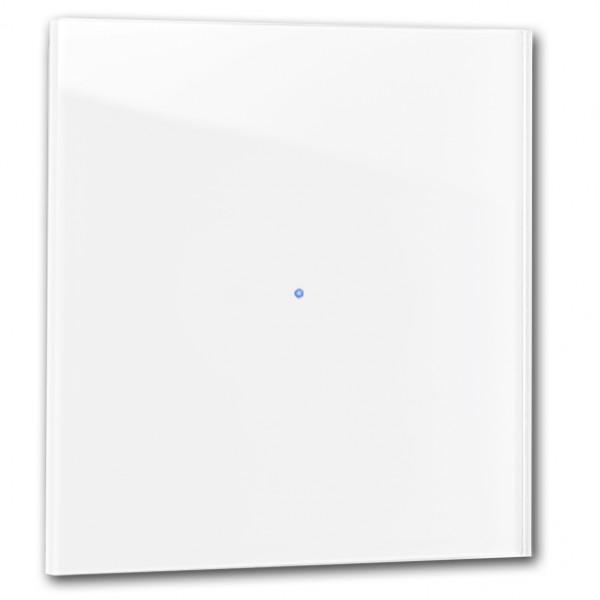 "R+R ""NOVA"": Glasblende weiß für 1 Sensor. 88x88 mm"