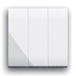 3-fach EIN-AUS +WECHSEL-Schalter. Weiß glänzend.