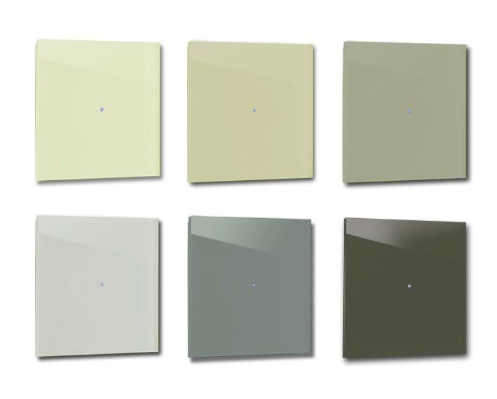 Design-Lichtschalter Grün. Viele Varianten