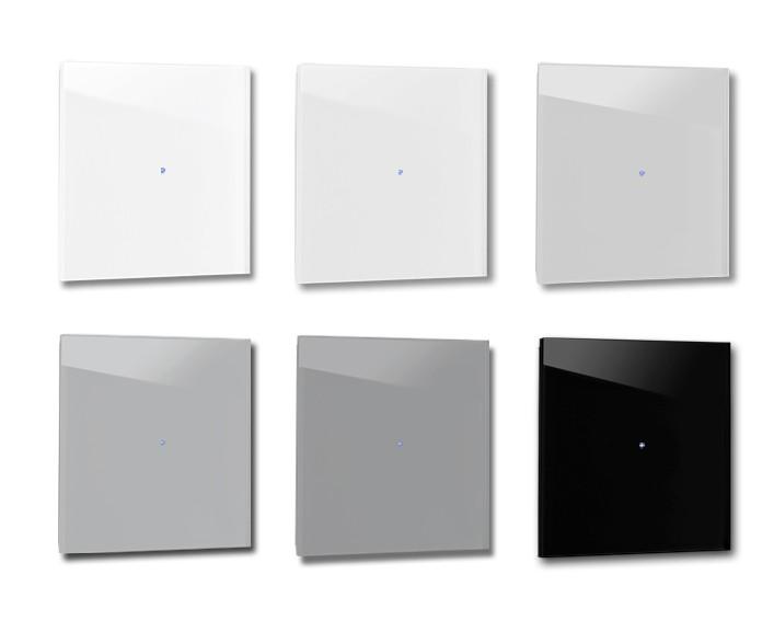 Design-Lichtschalter Grau. Viele Varianten