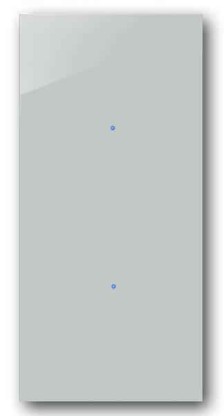 Tauben-Blauer 2-fach Touch-Licht-Schalter 230V in der Farbe: OVAL ROOM BLUE ® von Farrow & Ball Nr.: 85