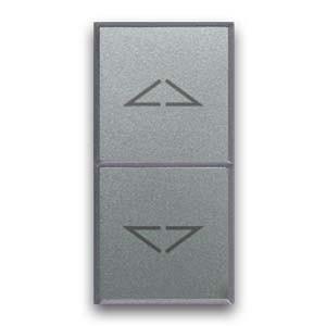 Druckknopf JALOUSIE-Steuerung Silberfarben