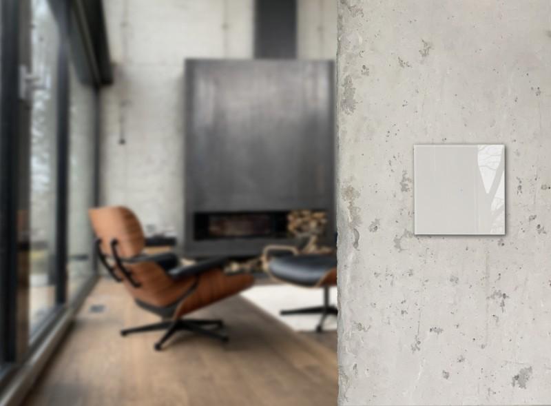 Moderner grauer Glas Touch-Lichtschalter