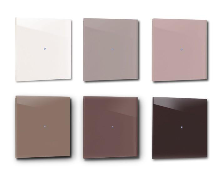 Design-Lichtschalter ROT. Viele Varianten