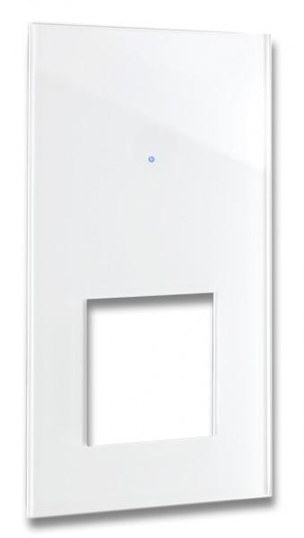 """FRONTBLENDE für Touch-Lichtschalter-Steckdosen-Kombination für eckige Steckdose. """"NOVA Color"""""""