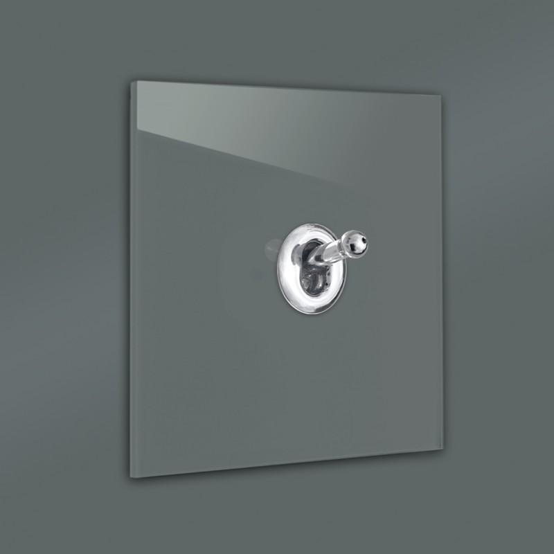 Lichtschalter Retro - viele Varianten. Glas Luxus mit hochwertigem modernem Chrom Kipphebelschalter von ROHDE+ROHDE