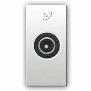 TV/SAT Anschluss (Stecker). Weiß glänzend.