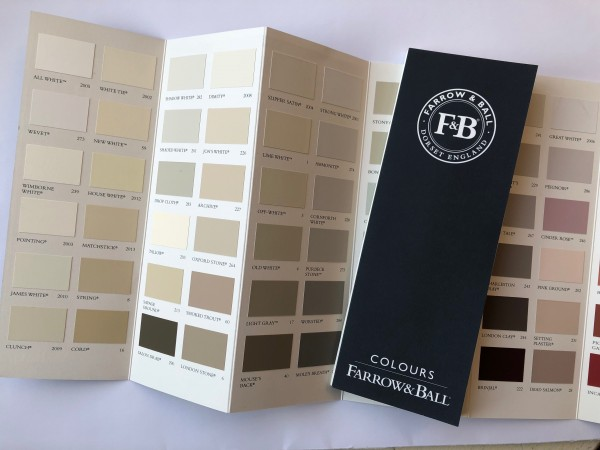 Farbkarte / Farbfächer, Farrow & Ball