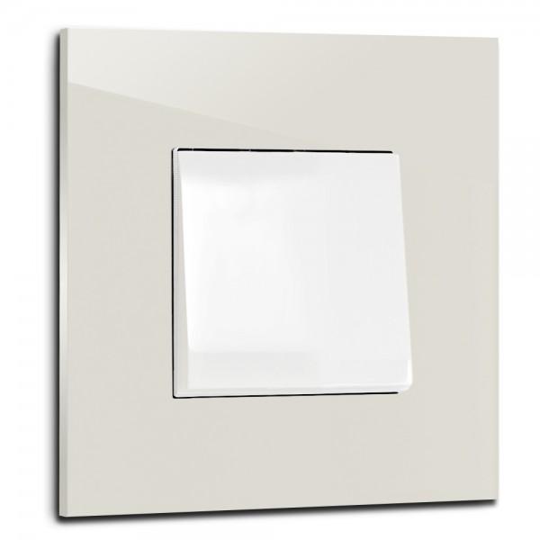 Ecu farbener, moderner 1-fach Lichtschalter von ROHDE+ROHDE in der Farbe: SKIMMING STONE ® von Farrow & Ball Nr.: 241