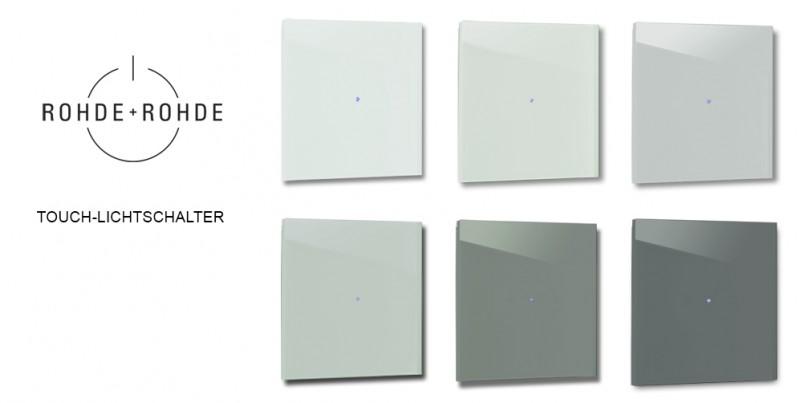 Farbige, grüne Design-Lichtschalter in Farrow & Ball Farben von ROHDE+ROHDE